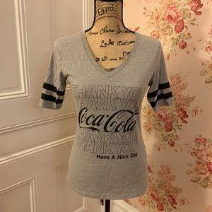 Coca Cola Gray and Black Tee Shirt